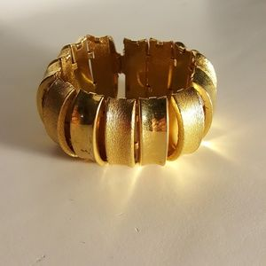 Jewelry - Gold Mirror & Textured Bracelet